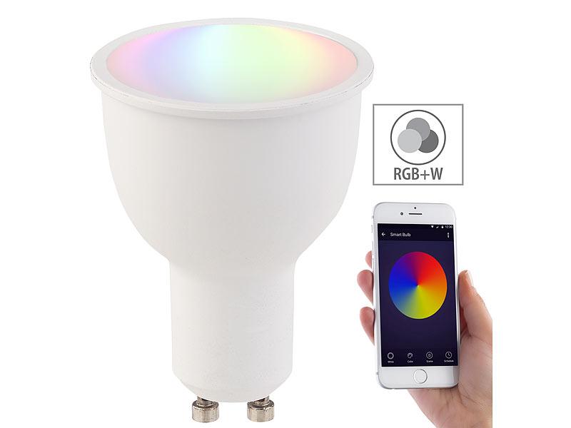 LUMINEA WLAN-LED-LAMPE*GU10*RGB+W*4,5 W.*ALEXA KOMP.*WELTWEIT SCHALTEN*EEK A+