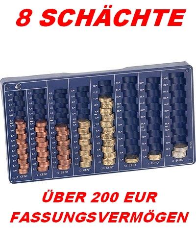 EURO*MÜNZBRETT*MÜNZSORTIERER* MÜNZZÄHLER*ZÄHLBRETT*8 SCHÄCHTE*CENT*MÜNZEN