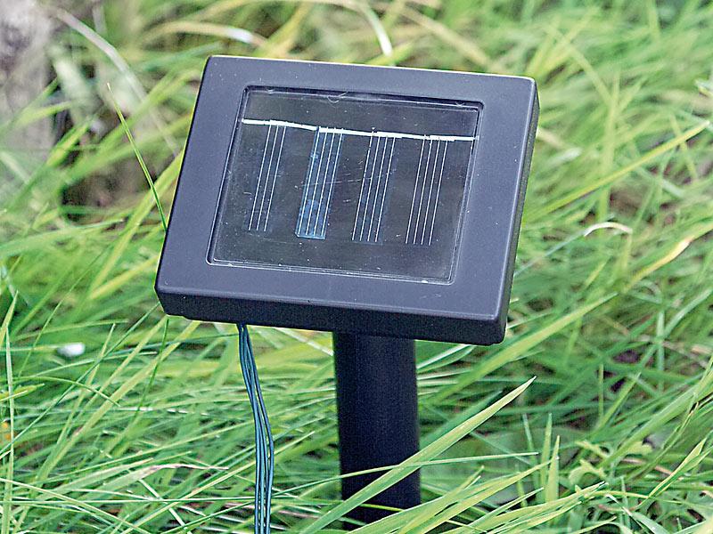 solar 50 led lichterkette bunt 7 meter 8 leuchtprogramme innen aussen neu ebay. Black Bedroom Furniture Sets. Home Design Ideas