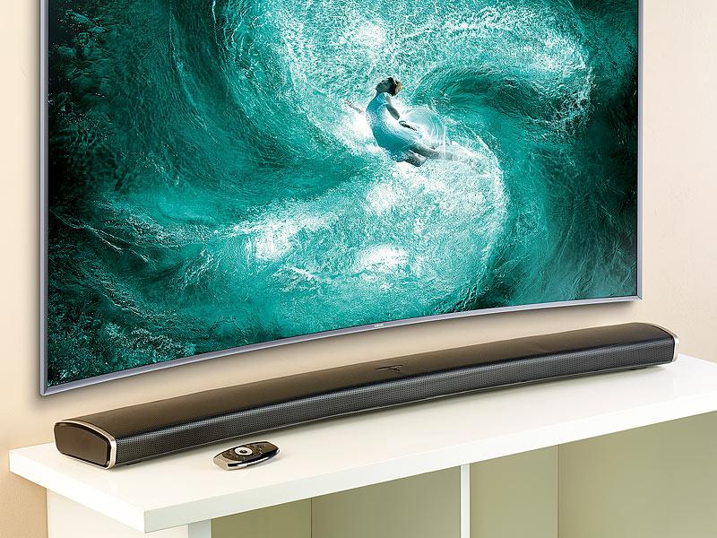 2.1 HIFI-SOUNDBAR*FÜR CURVED TV*120 WATT*SUBWOOFER*BLUETOOTH*S/PDIF*MSX-550.CV