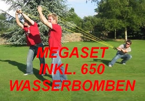 3 PERSONEN WASSERBOMBEN-SCHLEUDER*GIANT*650 BALLONS*100 M*SCHNEEBALL-SCHLEUDER